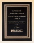 Black Piano Finish Plaque with Gold and Black Embossed Frame Achievement Awards