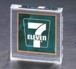 Emerald Marble Square Acrylic Paper Weight Bosses' Gift Awards