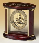 Skeleton Clock with Brass and Rosewood Piano Finish Bosses' Gift Awards