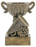 Sport Cup Cheerleading Antique Gold Cheerleading Trophy Awards
