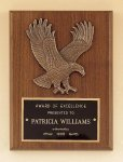 American Walnut Plaque with Eagle Casting Eagle Trophy Awards