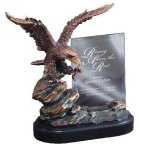 Eagle On Rock With Glass Eagle Trophy Awards