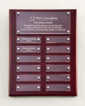 Rosewood High Gloss Perpetual Plaque Employee Awards