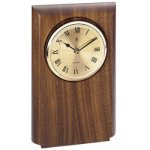 Walnut Clock Mount, Rounded Employee Awards