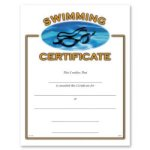 Swimming Certificate Award Fill in the Blank Certificates