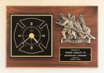 Fireman Award Clock with Antique Bronze Finish Casting. Fire and Safety Awards