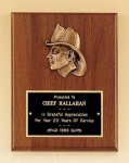 Fireman Award with Antique Bronze Finish Casting. Firefighter Trophy Awards