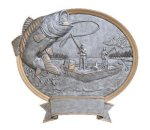 Legend Bass Fishing Oval Award Fishing Trophy Awards