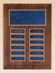 Solid American Walnut Perpetual Plaque Marble Awards