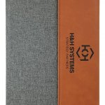 Leatherette Portfolio -Rawhide with Gray  Misc. Gift Awards