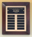 Cherry Finish Wood Frame Perpetual Plaque Monthly Perpetual Plaques