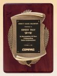 Rosewood Piano Finish Plaque with Antique Bronze Casting Recognition Plaques