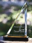 Spectacular Slant Color Accented Acrylic Award Sail Awards