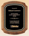American Walnut Notched Plaque Sales Awards