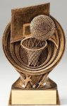 Saturn Series Resin Trophy -Basketball Saturn Series Sculpted Antique Gold Resin Trophy A