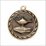 Scholastic Medal - Lamp of Knowledge Scholastic Trophy Awards