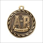 Scholastic Medal - A-B Honor Roll Scholastic Trophy Awards