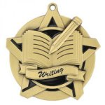 Super Star Medal -Writing Scholastic Trophy Awards
