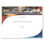 Academic Excellence Certificate Awards Scholastic Trophy Awards