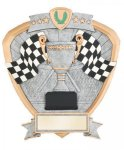 Signature Series Racing Flags Shield Award Signature Shield Resin Trophy Awards