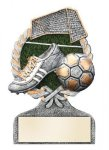 Multi Color Sport Resin Figure -Soccer Soccer Trophy Awards