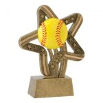 Stars and Stripes Resin Awards -Softball Softball Trophy Awards