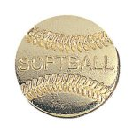 Softball Chenille Pin Softball Trophy Awards
