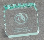 Paper Weight - Cracked Ice Square Rectangle Awards