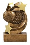 Star Swirl Award -Volleyball Star Swirl Resin Trophy Awards