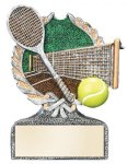 Multi Color Sport Resin Figure -Tennis Tennis Trophy Awards