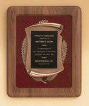 American Walnut Frame with Antique Bronze Casting Walnut Plaques