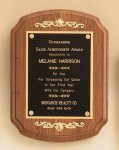 American Walnut Plaque with Decorative Accents Wreath Awards