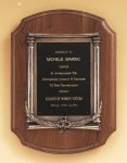 American Walnut Plaque with an Antique Bronze Casting Wreath Awards